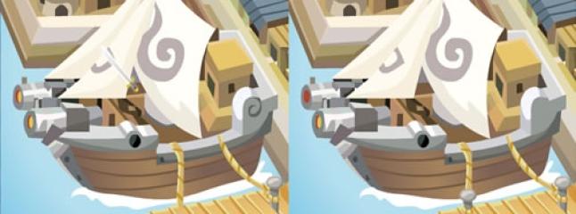 الاختلافات بين صورتين سفينة القراصنة