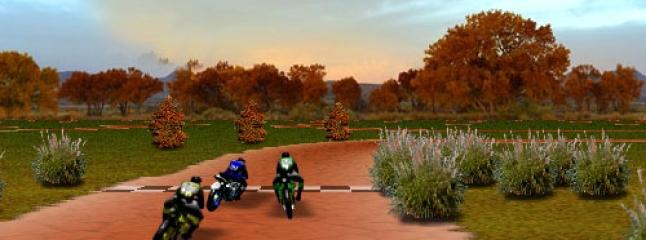 سباق موتوسيكلات ثلاثي الابعاد