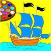 لعبة تلوين القارب